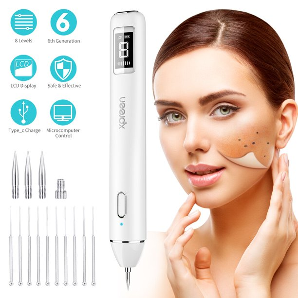 Xpreen Dot Mole Remover Pen Household Usb Charging Skin Tag Remover Dark Spot Remover Freckle Tattoo Wart Mole Removal Tool With Led Screen And Spotlight Walmart Com Walmart Com