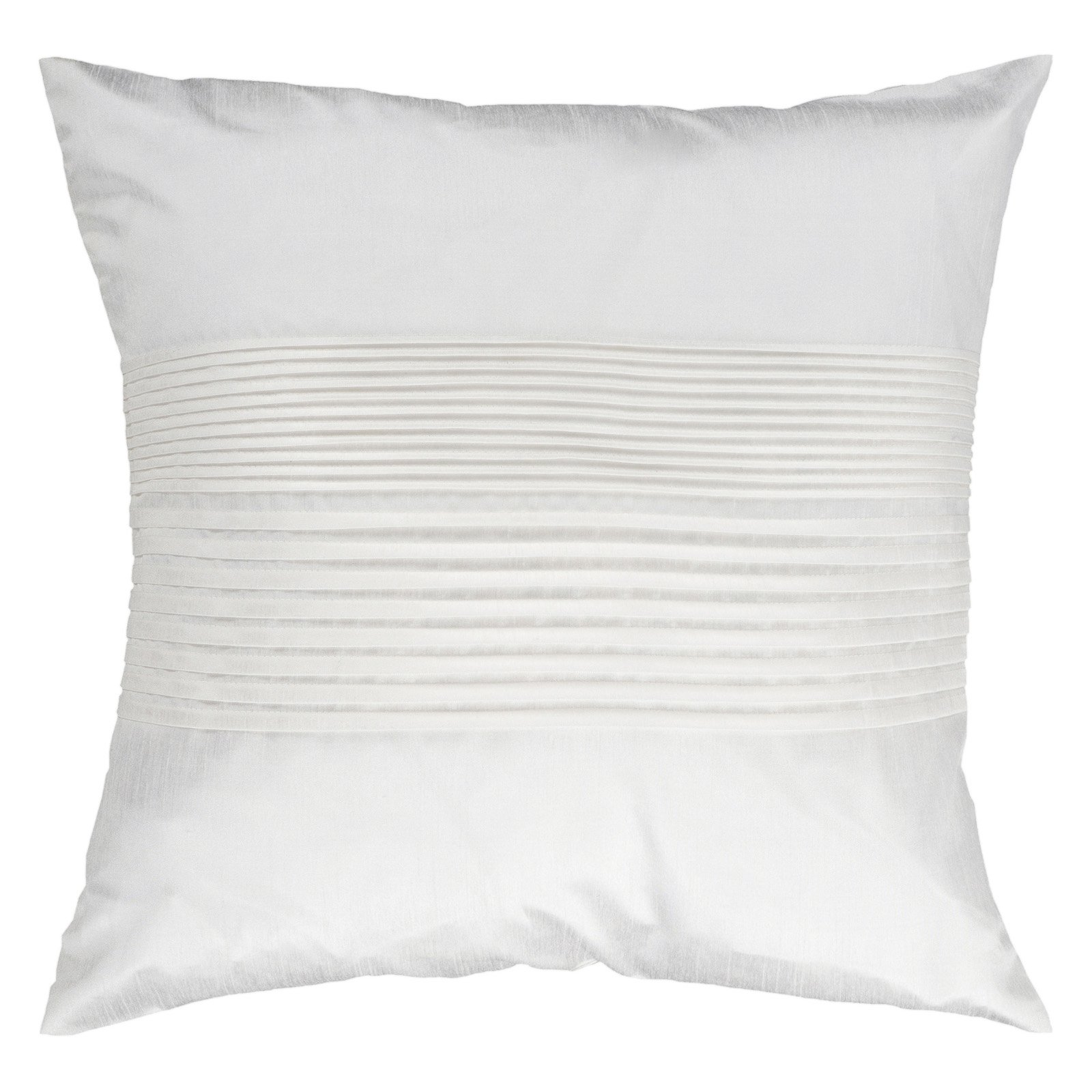 Surya Tracks Decorative Pillow - White