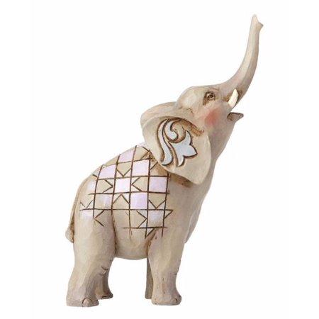 Jim Shore Heartwood Creek Miniature Elephant with Raised Trunk Figurine - Miniature Elephant Figurine