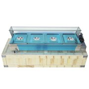 Techtongda 46in 4 Pan Kettle Professional Bain-Marie Buffet Food Warmer Server standard 1 2 pan�
