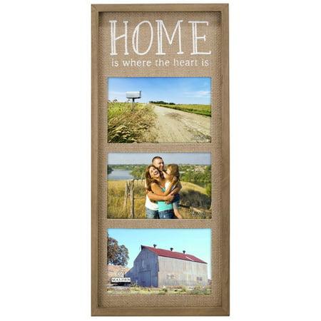 Malden Home Burlap Panel Picture Frame (Initial S Burlap Picture)