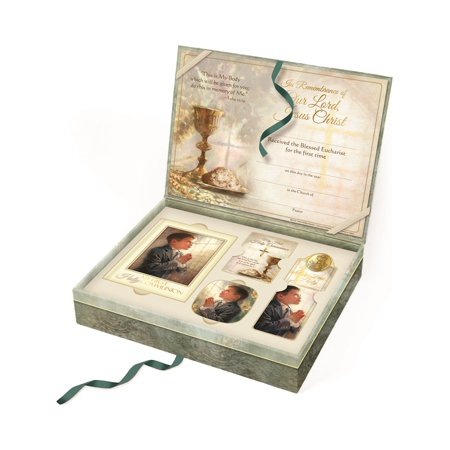 Boys Deluxe First Communion Gift Set (11x9mm) - Communion Gift For Boy