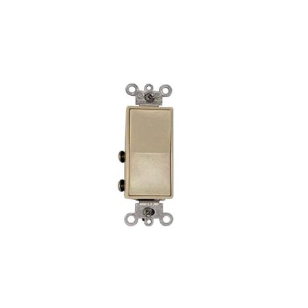 Leviton Decora Rocker Switch, 120/277 VAC, 15 A