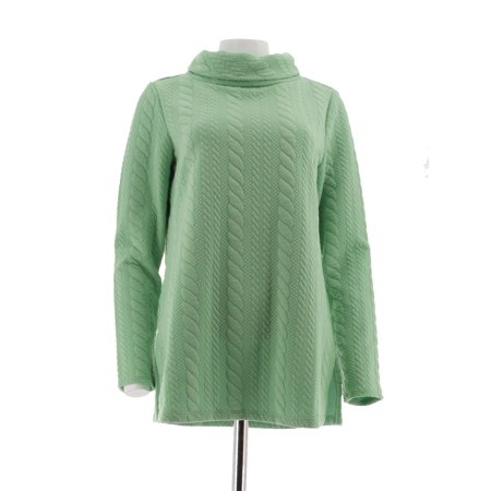 - George Simonton Cable Knit Top Funnel Neck A257569