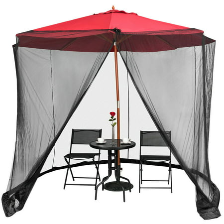 Gymax Umbrella Table Screen Cover Mosquito Bug Insect Net Outdoor Patio Netting ()