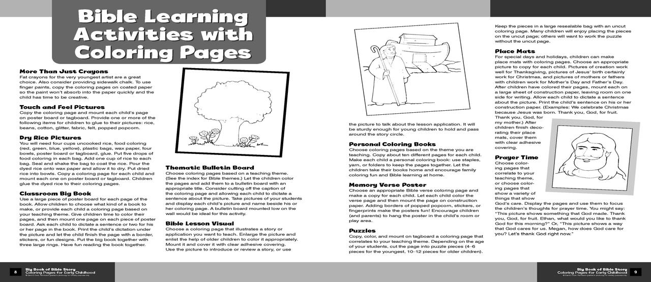 - Big Book Of Bible Story Coloring Pages For Early Childhood - Walmart.com -  Walmart.com
