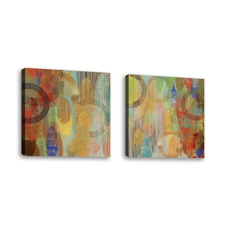 Set Of 2 Side By Ii Contemporary Fine Art Giclee On Canvas Gallery Wrap Wall Décor Painting 24 X Inch Ready To Hang