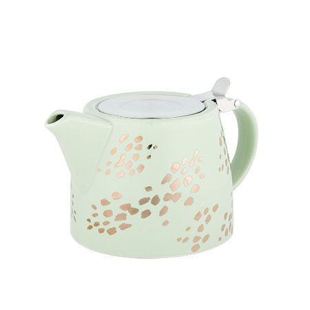 Harper Champagne Dots Ceramic Teapot & Infuser by Pinky Up - Ceramic Tea Pot