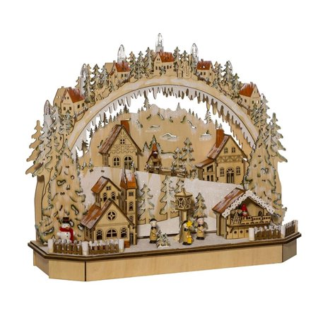 "18"" LED Lighted Christmas Themed Village House Tabletop Decor"