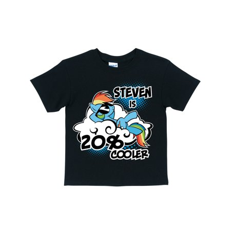 40a273f0d Personalized My Little Pony Rainbow Dash Cooler Black Boy's T-Shirt -  Walmart.com