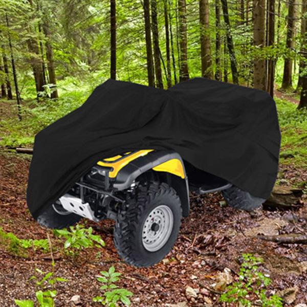 "ATV Cover 99"" Length Off Road 4 Wheeler Black Polyester"