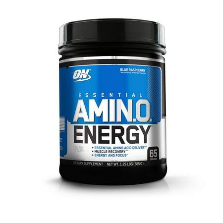 Amino Acid Medical Food (Optimum Nutrition Amino Energy Pre Workout + Essential Amino Acids Powder, Blue Raspberry, 65 Servings)