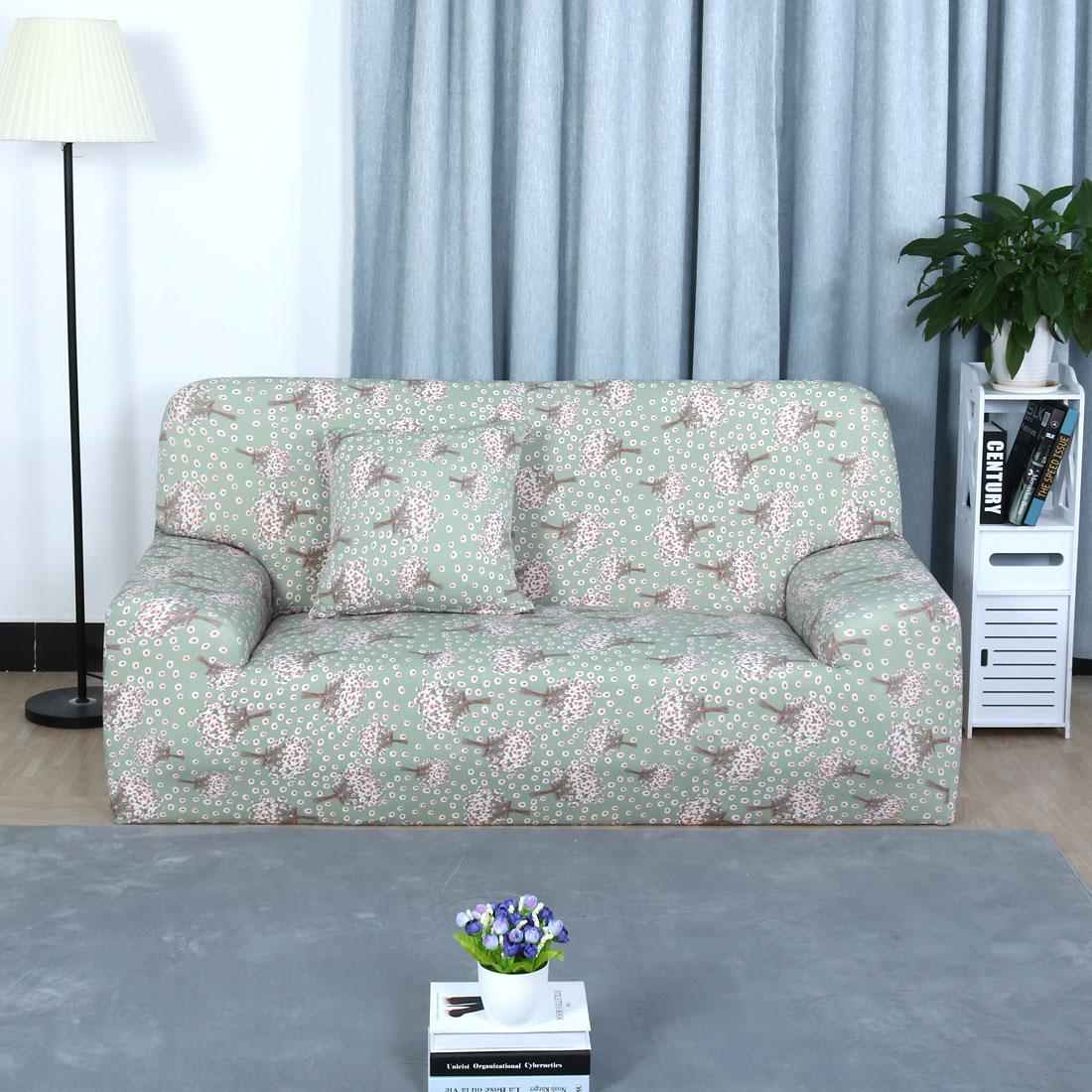 Piccocasa Hyacinth Pattern Sofa Loveseat Cover Slipcover Protector
