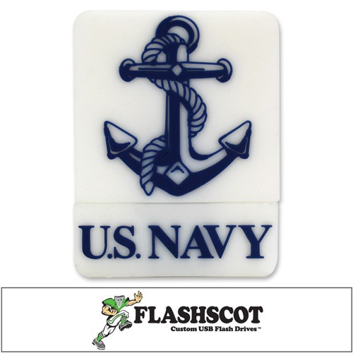 "U.S. Navy ""Anchor Logo Shape"" USB Drive - 16GB"