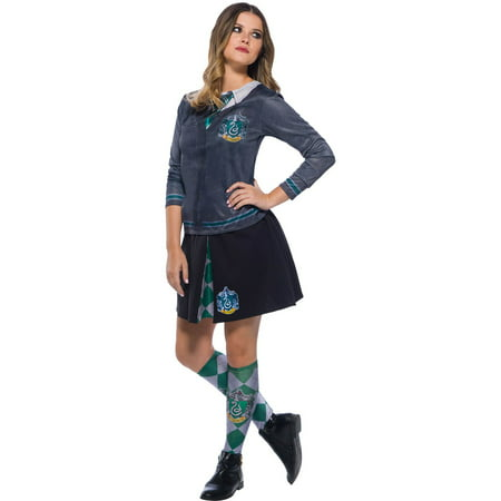 The Wizarding World Of Harry Potter Adult Slytherin Halloween Costume Top (Girl Harry Potter Costume)