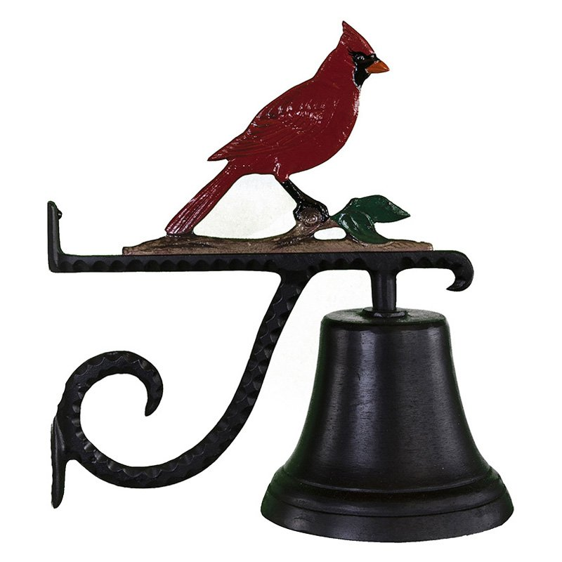 Cast Bell with Color Cardinal Ornament