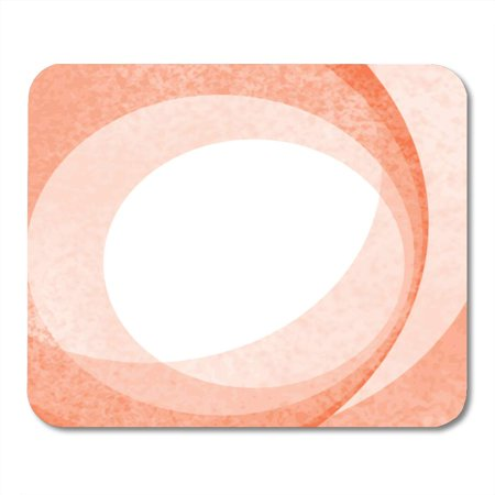 SIDONKU Color White Seventies Orange Retro 70Ties Circle Pattern with Different Shades Rough Abstract Contrast Mousepad Mouse Pad Mouse Mat 9x10 inch