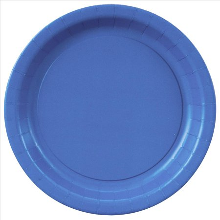 Blue Plane (Paper Plates, 7 in, Royal Blue, 20ct )