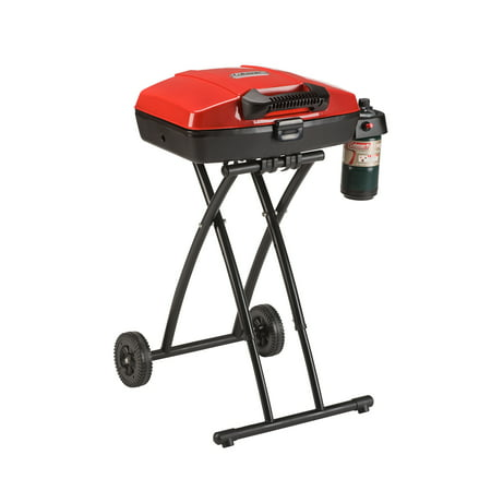Coleman Sportster Propane Grill The Portable Coleman Sport Roadtrip Propane Grill has a wheeled stand that makes it easy to move and position. The lift and lock system also allows you to securely set it up. In addition, it features an insta-start ignition and removable tray that collects the grease while you cook. This portable propane grill has a spacious grilling area to prepare your favorite meals at a tailgate party, picnic, camping trip or just in the backyard with family and friends. The grate is simple to remove, making clean up a breeze when you are done. When cooking is over, simply latch the lid, collapse the legs and you can be on your way to your next adventure. This Portable Coleman Sport Roadtrip Propane Grill is durable and sturdy, making it an ideal addition to your cooking accessories and will be your go-to grill when preparing your next meal for the whole family.