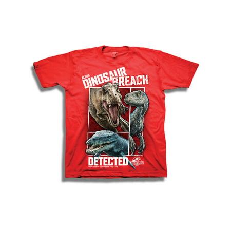 Short Sleeve Jurassic Park Dinosaur Breach Graphic Tee - Jurassic Park Fancy Dress