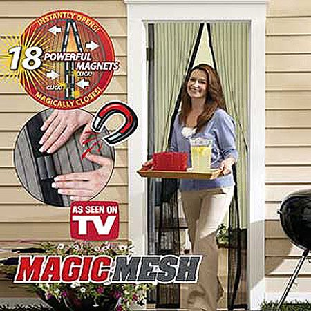 As Seen on TV Window Magnetic Screen Door Magic Mesh Cover