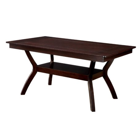 Furniture of America Melott Dining Table in Dark (Dark Cherry Office Furniture)