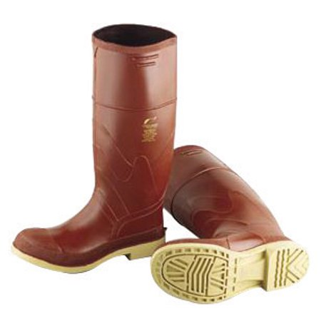 """Image of Onguard Industries Size 13 Superpoly Brown 16"""" Urethane And PVC Kneeboots With Chevron Outsole And Steel Toe"""