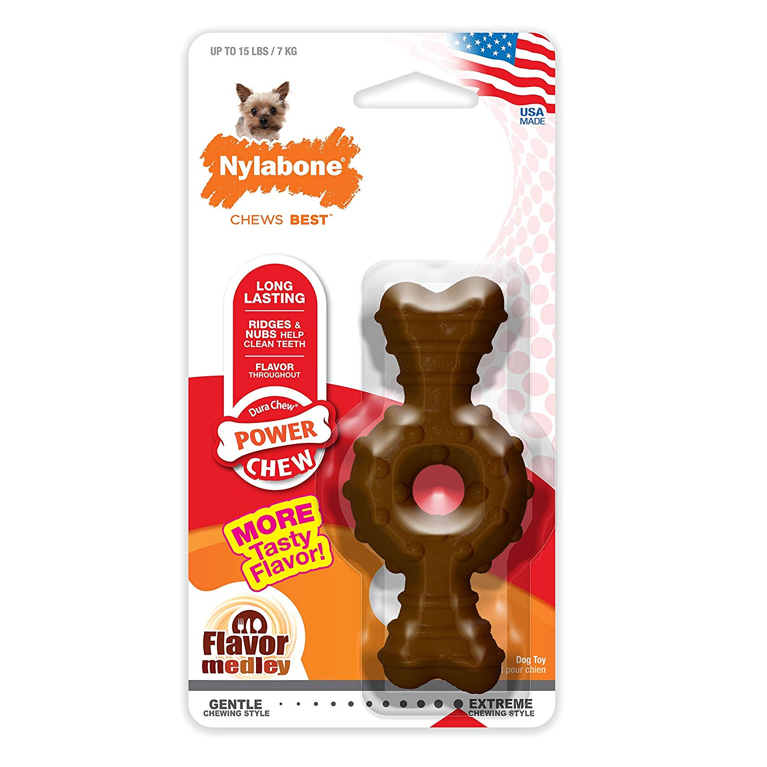Nylabone Durachew Textured Ring Bone Medley Dog Toy
