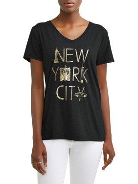 fdb32df1c442 Juniors Tops   T-Shirts - Walmart.com