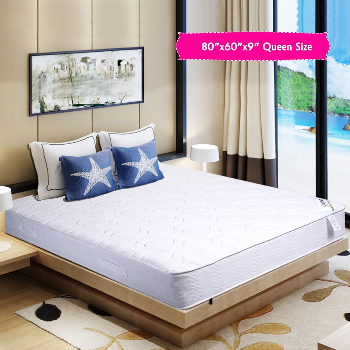 "Costway 9"" Mattress Independent Pocket Spring Mattress Bunk Bed (Queen) by Costway"