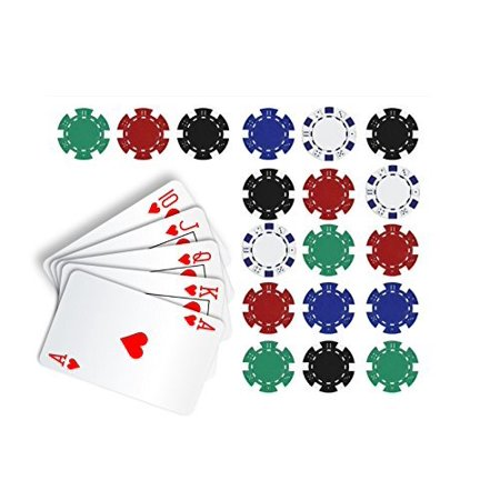 Poker Edible Cake Topper Royal Flush in Hearts Cake Topper Casino Chips](Casino Supply Store)
