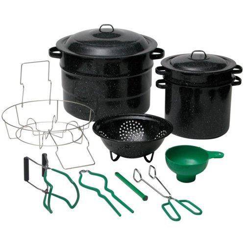 Granite Ware 21.5 Quart Steel Water Bath Canner 12 Piece Kit