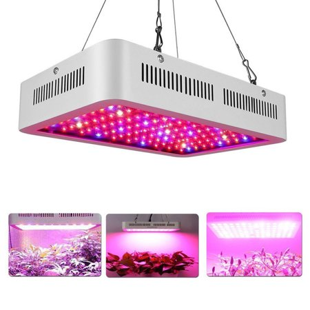 600W LED Plant Grow Lights Indoor Full Spectrum IR UV Veg Flower Indoor Plant Panel for Indoor Greenhouse Hydroponic Plants Vegetable Bloom Flower Fruit (10W 60Pcs Leds) ()