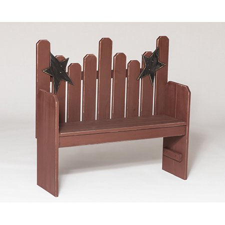 Furniture Barn USA™ Primitive Rustic Country Style Star Back Bench ()