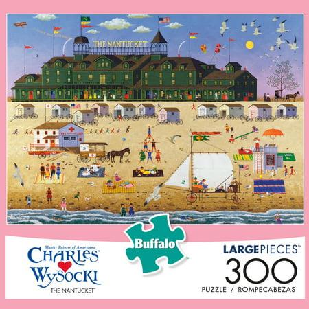 Buffalo Games Charles Wysocki The Nantucket 300 Large Piece Jigsaw Puzzle ()