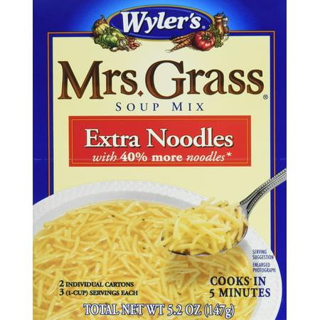 Mrs Grass - Mrs. Grass Extra Noodles Soup Mix (5.2oz Pack of 12) 6.21 ounce