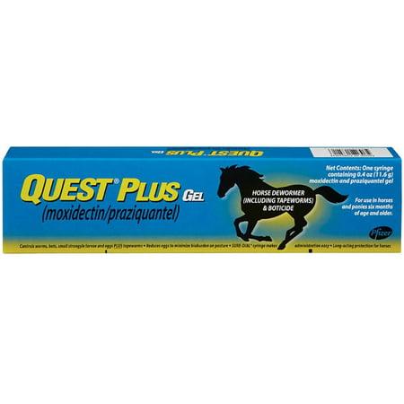 Quest Plus 427522 Horse Dewormer Gel, 0.4 Oz