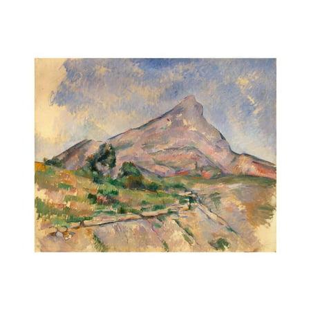 Mount Sainte-Victoire, 1897-1898 Print Wall Art By Paul Cézanne