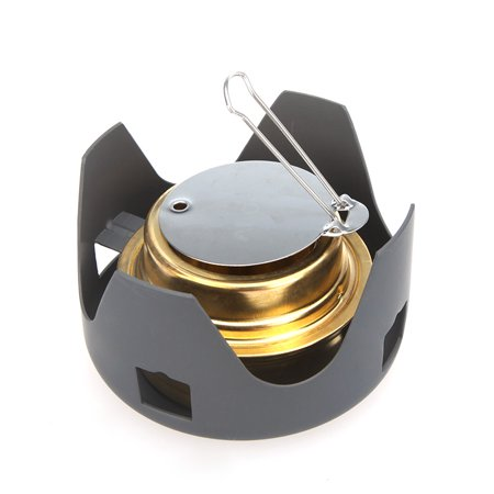 Portable Mini Ultra-light Spirit Burner Alcohol Stove Outdoor Backpacking Hiking Camping Furnace with Stand