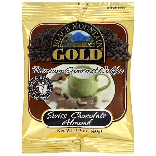 Black Mountain Gold Swiss Chocolate Almond Gourmet Coffee, 1.4 oz (Pack of 20)