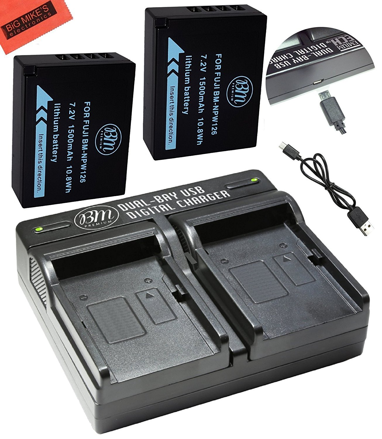 Bm Premium 2 Np W126 W126s Batteries And Dual Battery Charger Fuji For Fujifilm Finepix X100f X T10 T20 Pro1 Pro2 Hs35exr Hs50exr A1 A2