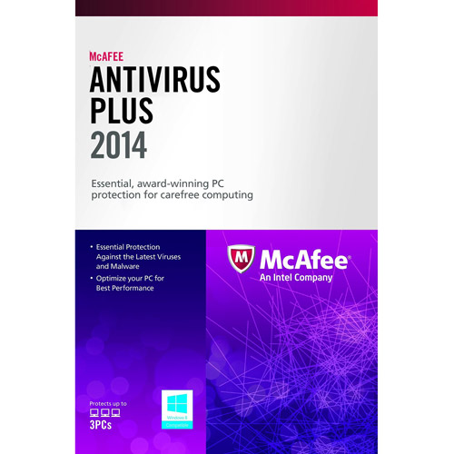 McAfee Antivirus Plus 2013 US, 3 PCs (PC)