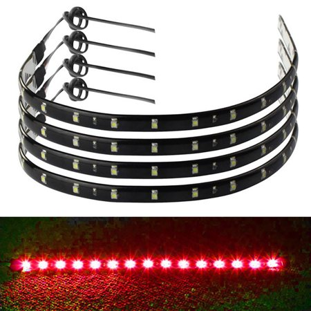 Car Strip 4pcs Canada Led Waterproof Lights 30cm15 Motors RedWalmart Flexible Truck 12v 1cFKJTl