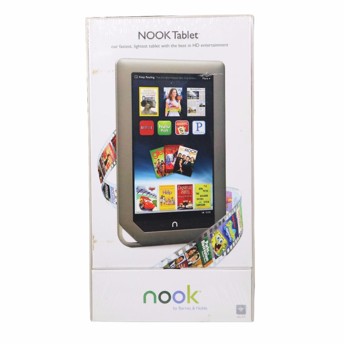 "Barnes & Noble Nook BNTV250 with Wi-Fi 7.0"" 1GHz 16GB Touchscreen Tablet PC Android OS"