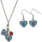 Candy Heart XO Necklace and Earrings Set