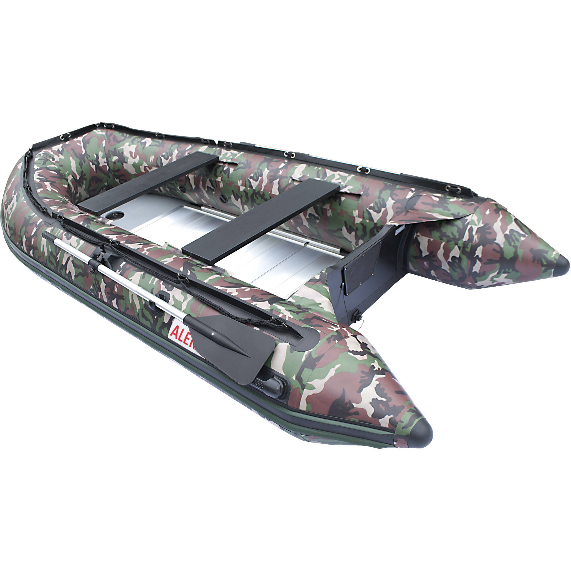 ALEKO Inflatable Fishing Boat - 4-Person - 10.5 feet - Camouflage