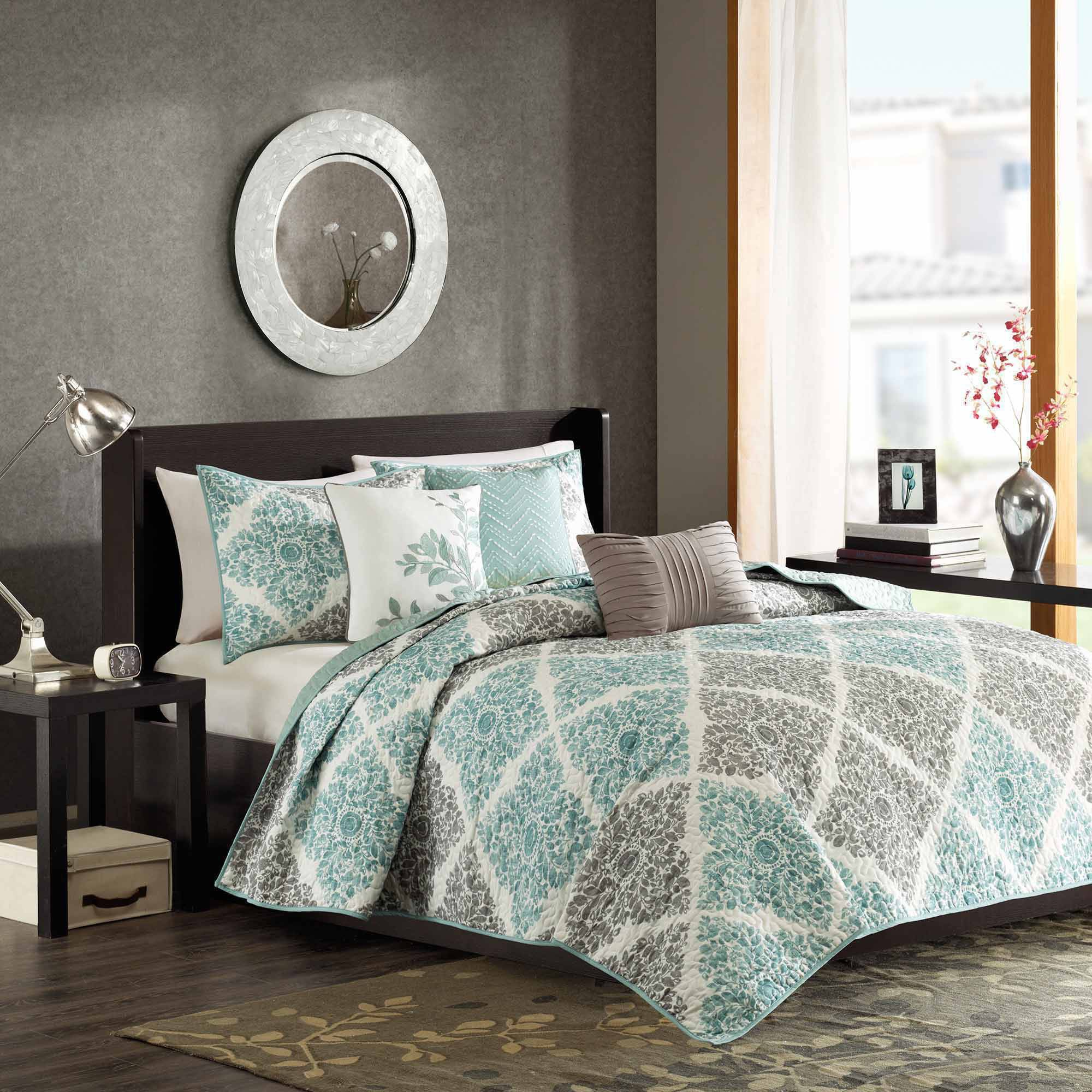 Home Essence Arbor 6-Piece Quilted Coverlet Set by E&E Co.