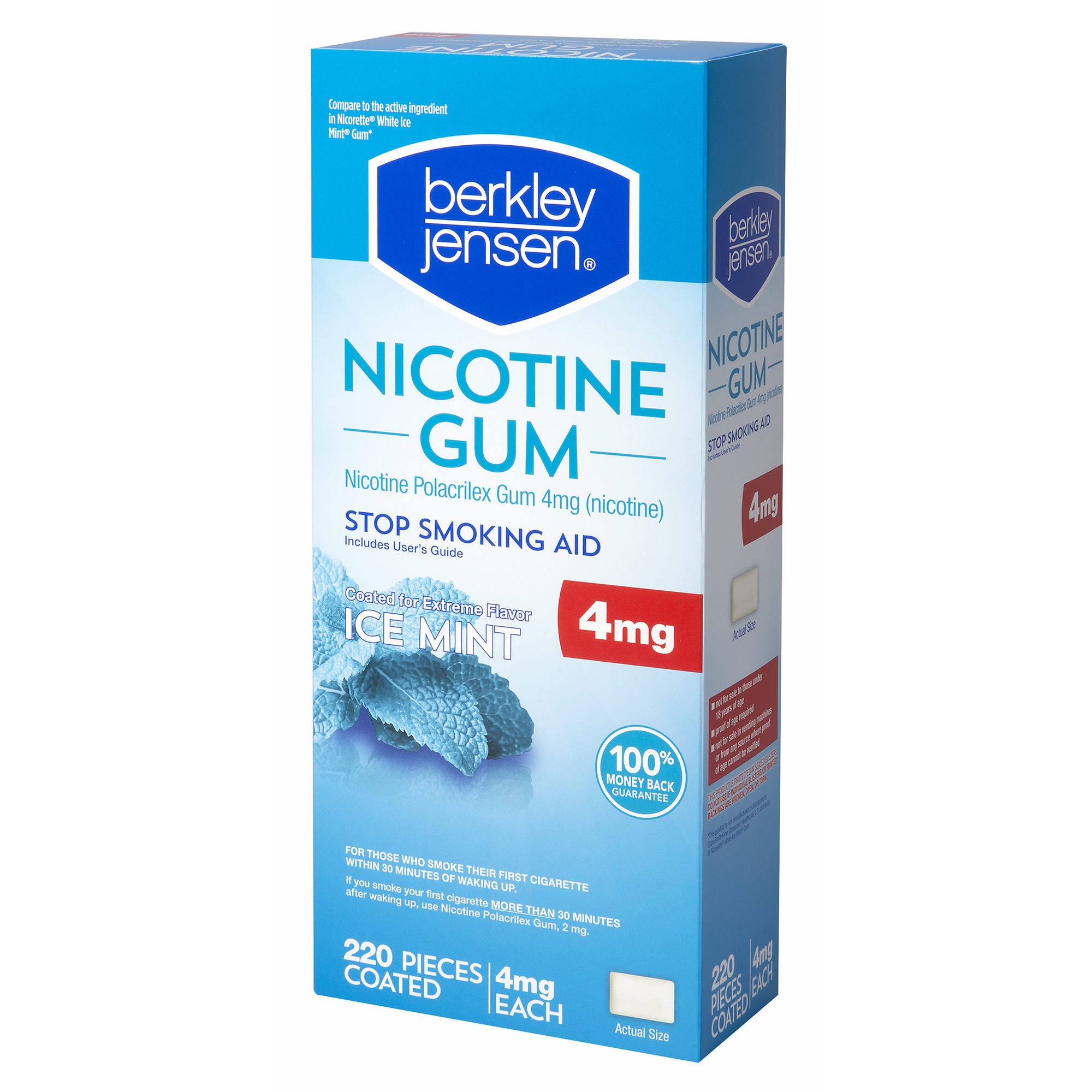 Product of Berkley Jensen White Ice Mint Nicotine Gum, 220 ct./4mg - [Bulk Savings]