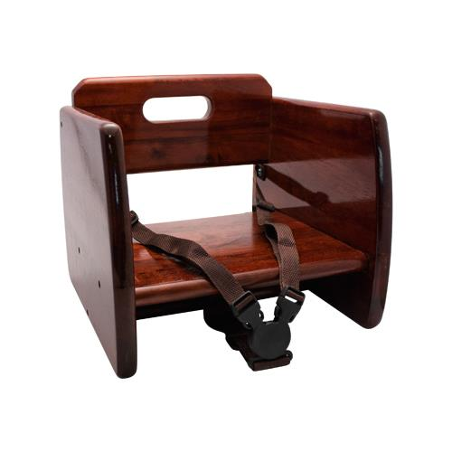 GET Enterprises - BS-200-M - Mahogany Wood Booster Seat