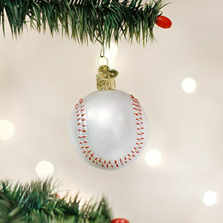 Old World Christmas Baseball Glass Blown Ornament - Baseball Christmas
